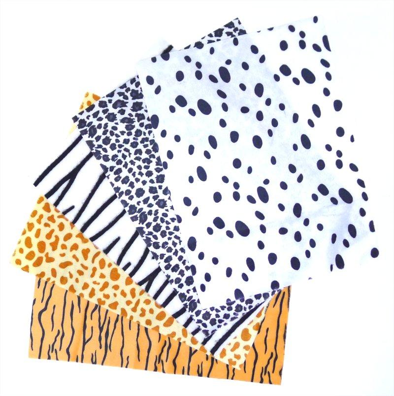 ANIMAL FABRIC PRINT FUR FABRIC SHEETS (AC80186)