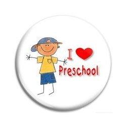 BUTTON PIN: I Love Preschool - Boy (GT5032)