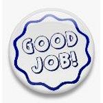 BUTTON PIN: GOOD JOB - BLUE (TA3071)