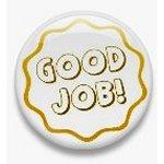 BUTTON PIN: GOOD JOB - YELLOW (TA3078)