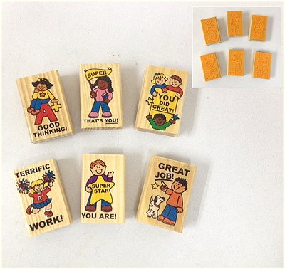Wooden Teacher Reward Stamp-Set of 6 (TA3151)