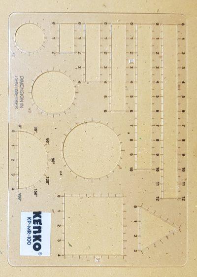 Singapore Math Model Ruler - Clear (MS4051)