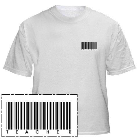 Mens Shirt: Teacher Barcode (GT5012)
