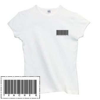 Ladies Shirt: Teacher Barcode  (GT5013)