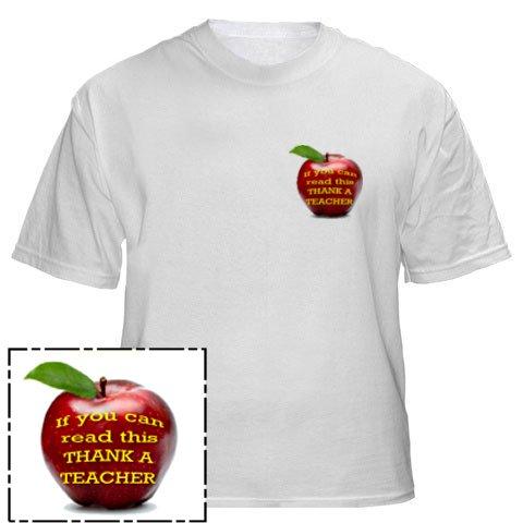 Mens Shirt: If you Can Read This THANK A TEACHER #1 (GT5014)