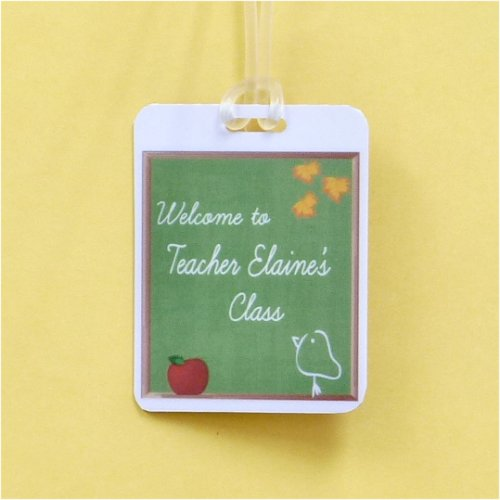 Bag Tag: Personalized Blackboard with Apple and Chick (GT5068)