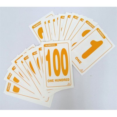 NUMBERS 1-100 FLASH CARDS (MS4007)