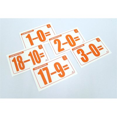 SUBTRACTION FLASH CARDS (MS4008)