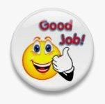 BUTTON PIN: GOOD JOB (TA3063)