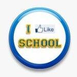 BUTTON PIN: I LIKE SCHOOL - BLUE (TA3065)
