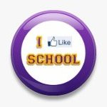 BUTTON PIN: I LIKE SCHOOL - VIOLET (TA3069)