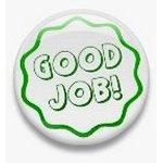 BUTTON PIN: GOOD JOB - GREEN (TA3072)