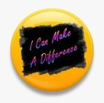 BUTTON PIN: I CAN MAKE A DIFFERENCE (TA3075)