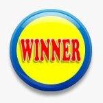 BUTTON PIN: WINNER (TA3076)